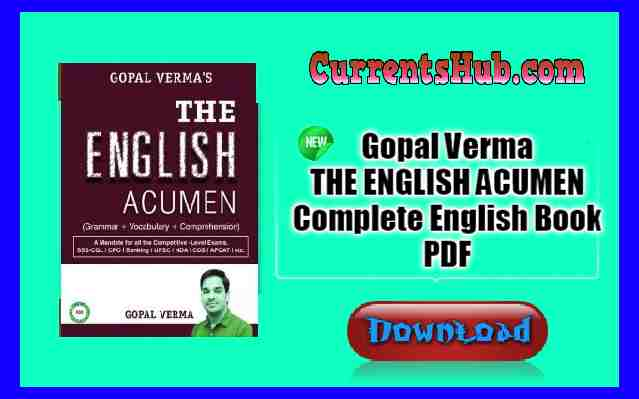 Gopal Verma THE ENGLISH ACUMEN Complete English Book PDF