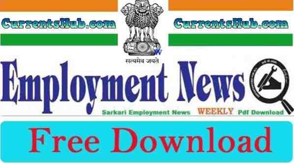 Employment News Weekly PDF Download-2020 Rojgar Samachar Hindi Download
