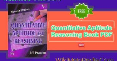 Quantitative Aptitude and Reasoning By R.V. Praveen PDF Free Download
