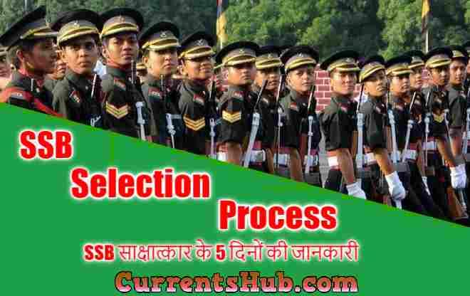 SSB Selection Process in hindi, SSB साक्षात्कार के 5 दिनों की जानकारी