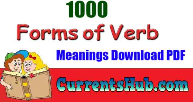 1000 Forms Of Verbs With Urdu Meanings Download PDF