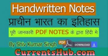 Ancient Indian History PDF Notes in Hindi By Sir Shiv Kumar Singh