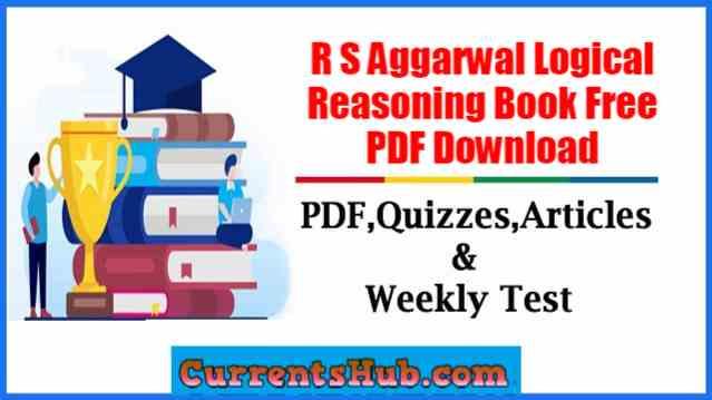 R S Aggarwal Logical Reasoning Book Free PDF Download