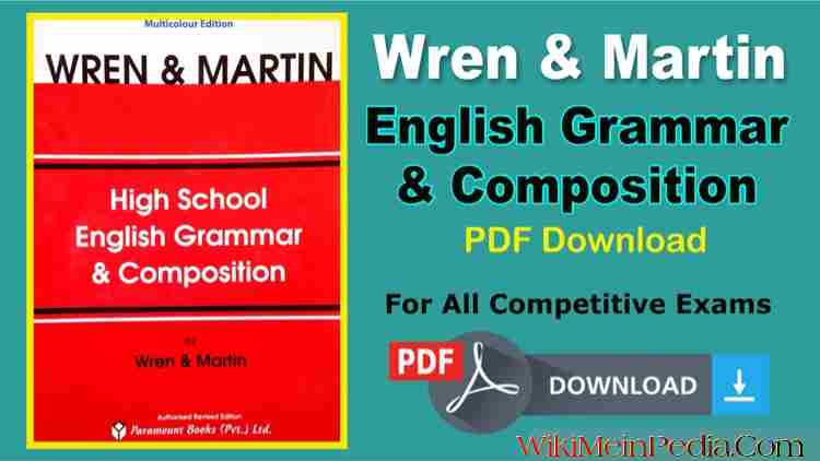 Wren And Martin English Grammar PDF Free Download