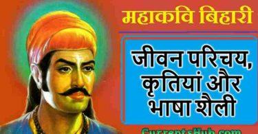बिहारी का जीवन परिचय - kavivar bihari ka sahityik parichay