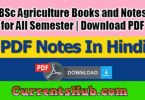 BSc Agriculture Books and Notes
