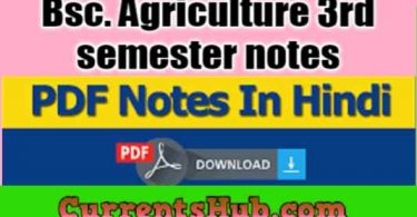 Bsc. Agriculture 3rd semester notes in HINDI Free Download