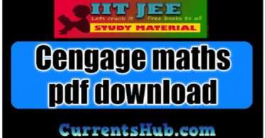 Download Cengage maths pdf download for IIT JEE Main