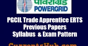 PGCIL Trade Apprentice ERTS Previous Papers | Syllabus & Exam Pattern