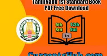 TamilNadu 1st Standard Book – Download Kalvi New Books