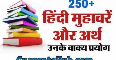 Hindi Muhavare with Meanings and Sentences हिंदी मुहावरे और अर्थ