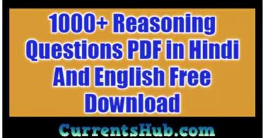 1000 Reasoning Questions PDF in Hindi And English Free Download