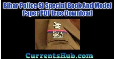 Bihar Police SI Special Book And Model Paper PDF Free Download