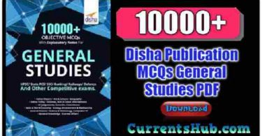 Disha 10000+ Objective MCQs General Studies PDF Book