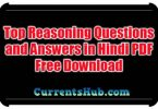 Top Reasoning Questions and Answers in Hindi PDF Free Download