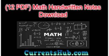 Math Handwritten Notes Download